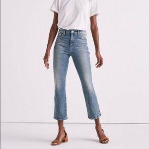 High rise Crop Kickflare Medium Wash Jeans